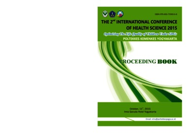 proceeding book the 2nd International comfrence of health science 2015 : optimizing the life quality if children under SDGs Poltekkes kemenkes yogyakarta